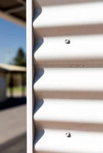 Port Campbell Toilet Building - Corrugated Iron Close Up